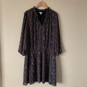 J. Crew Mercantile Dress Long Sleeve Floral Print